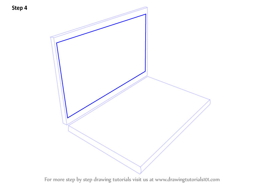 Learn How To Draw A Laptop Computers Step By Step