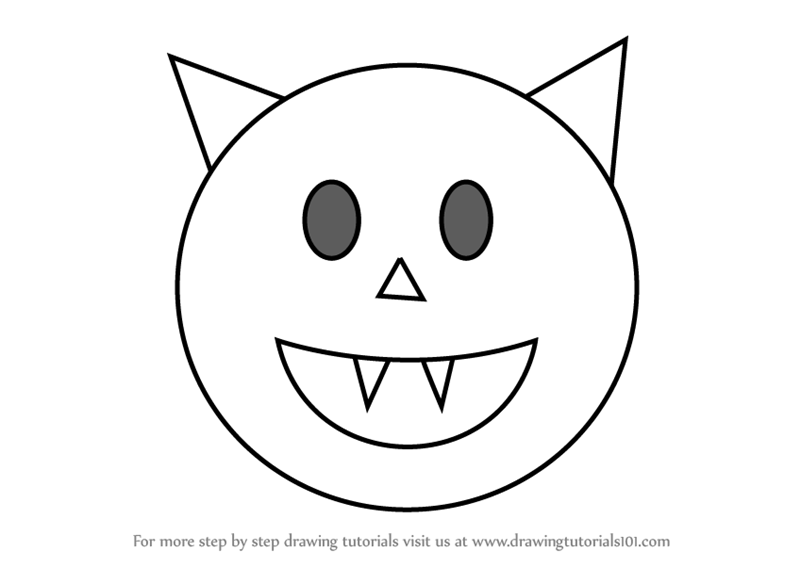Learn How to Draw Halloween Emoji (Emoticons) Step by Step ...