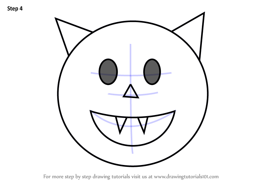 Learn How To Draw Halloween Emoji Emoticons Step By Step
