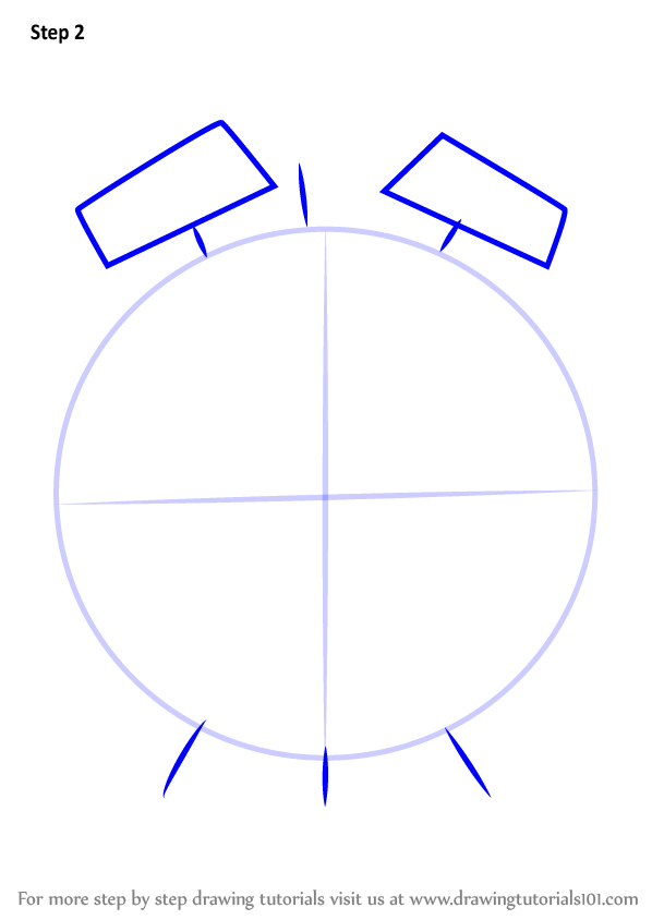 Learn How to Draw an Alarm Clock (Everyday Objects) Step by