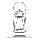 How to Draw an Antique Lamp