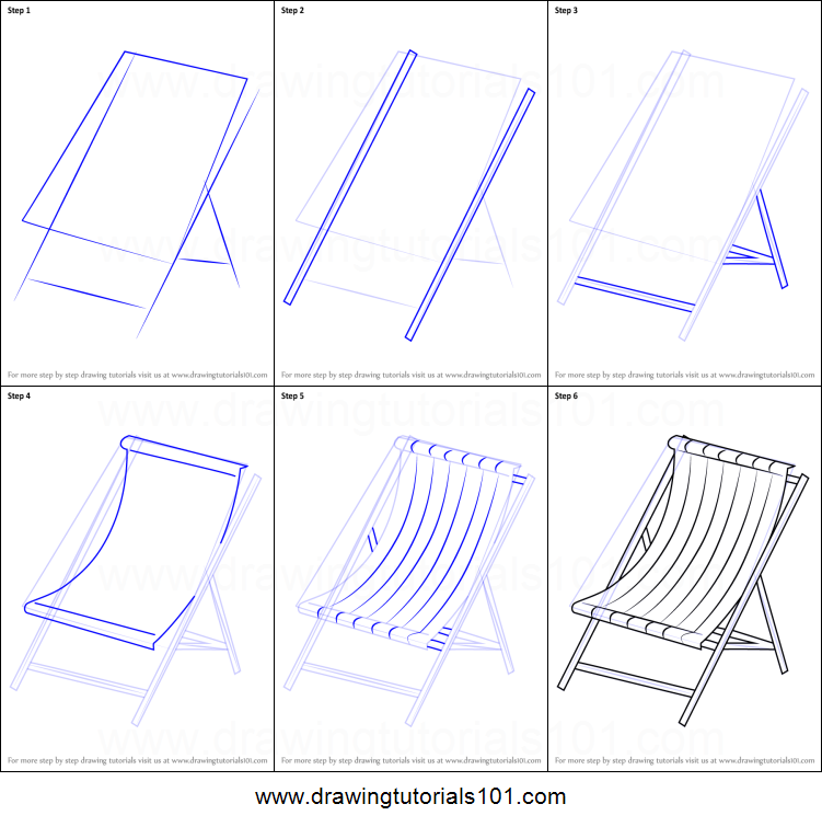 How To Draw Beach Chair Printable Step By Drawing Sheet DrawingTutorials101