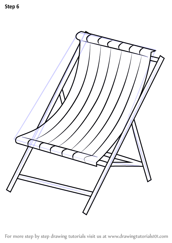 Learn How To Draw Beach Chair Everyday Objects Step By