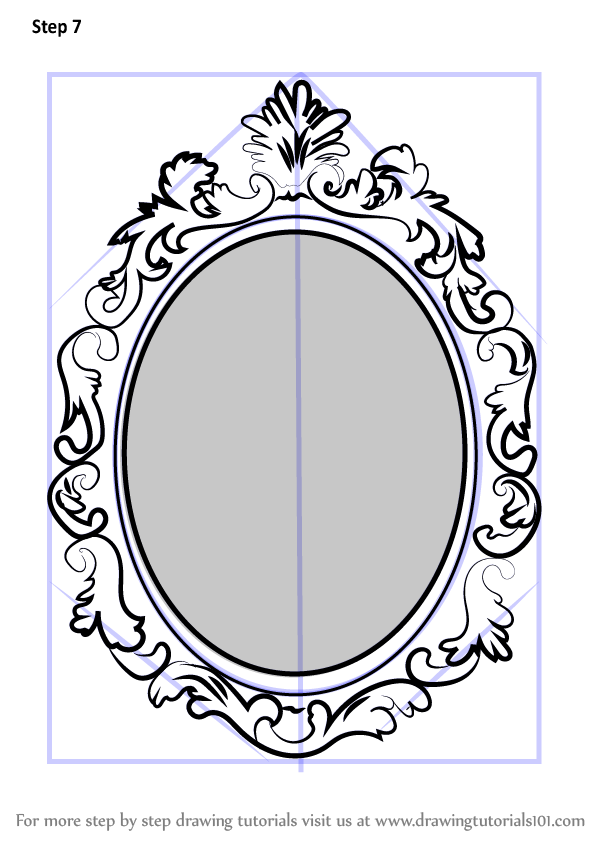 Learn how to draw beautiful mirror everyday objects step for Mirror drawing