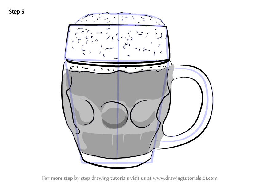 Learn How To Draw Beer Mug Everyday Objects Step By Step