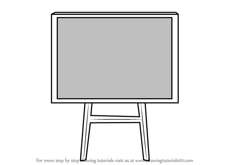Motherboard Drawing: Learn How To Draw A Blackboard (Everyday Objects) Step By