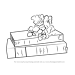 How to Draw Book with Flower