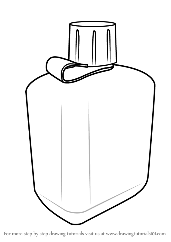 learn how to draw a bottle everyday objects step by step drawing