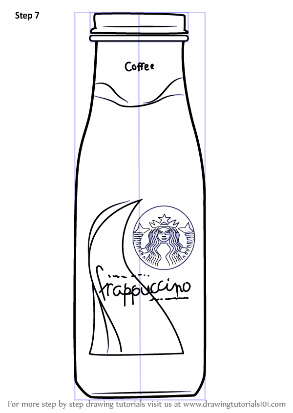 Learn How To Draw Bottled Frappuccino Everyday Objects
