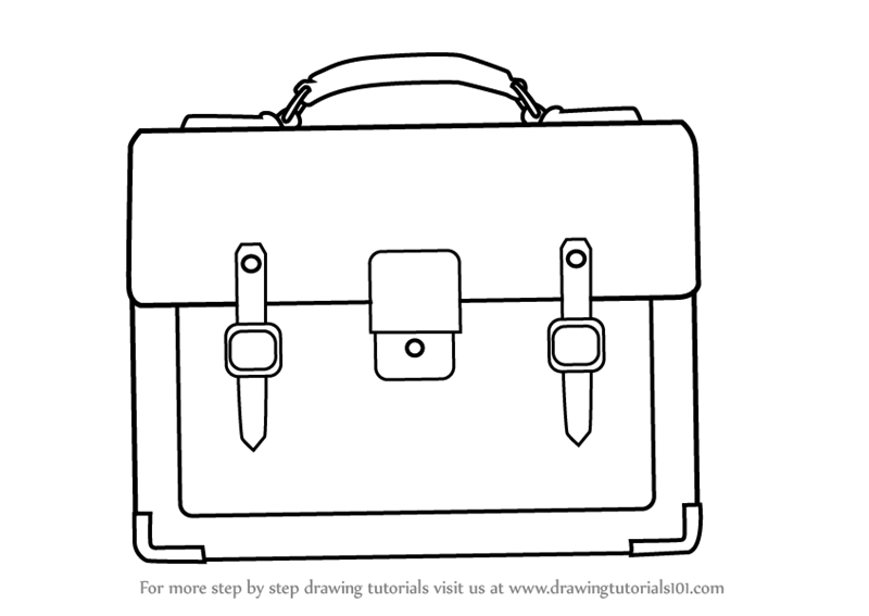 Learn How To Draw A Business Handbag Everyday Objects Step By Step