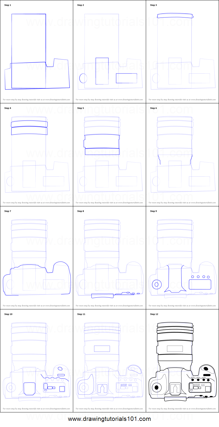 It is a graphic of Superb Camera Drawing Step By Step