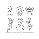 How to Draw Cancer Ribbons