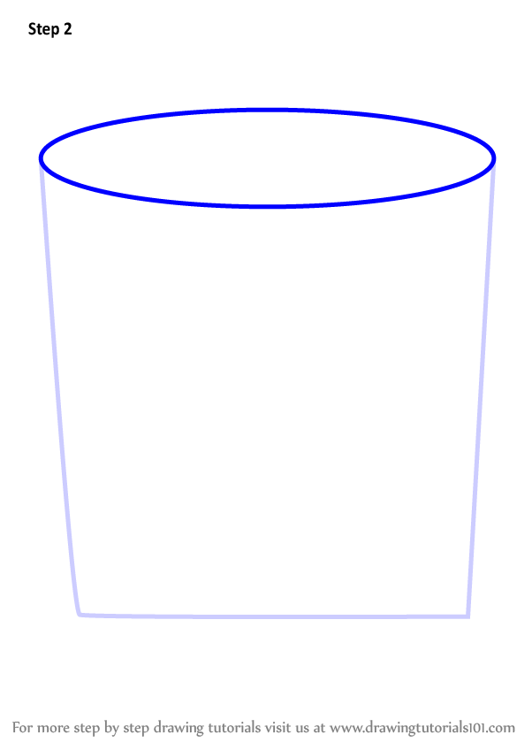 Learn How To Draw Coffee Container Everyday Objects Step