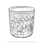 How to Draw Coffee Container