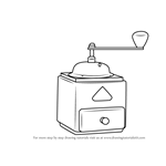 How to Draw Coffee Grinder