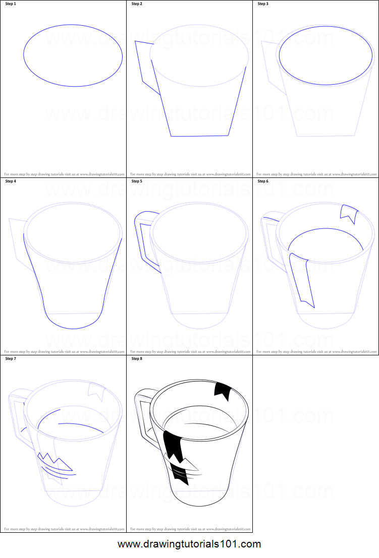 picture about Coffee Cup Printable referred to as How in the direction of Attract a Espresso Mug printable stage as a result of stage drawing