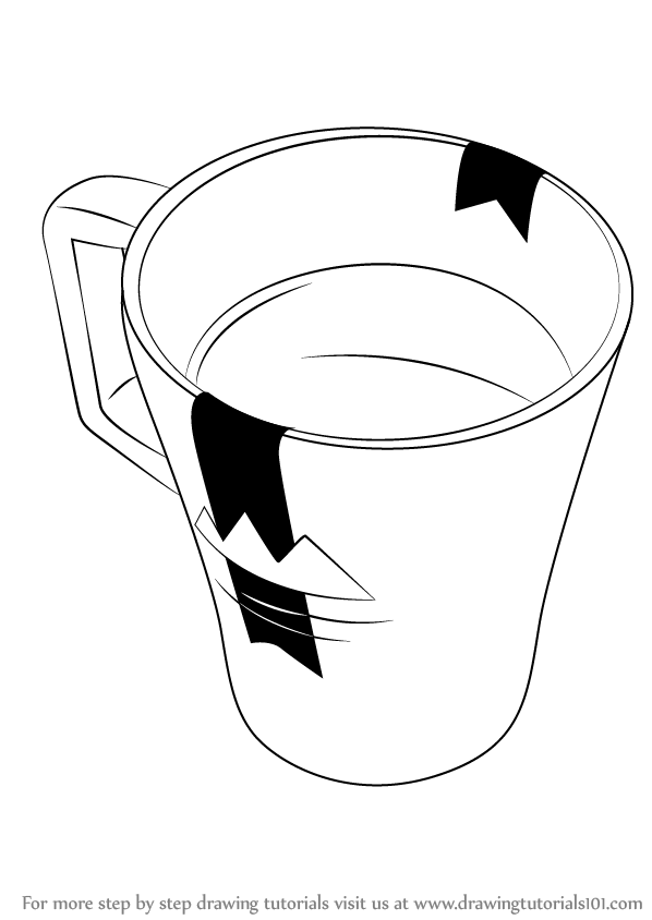 learn how to draw a coffee mug everyday objects step by step drawing tutorials