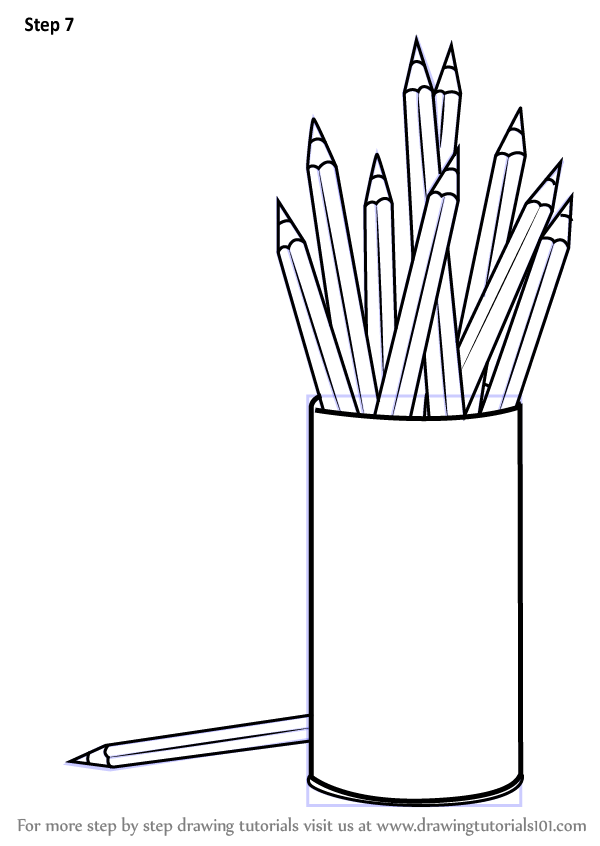 Learn How To Draw Coloring Pencil Box Everyday Objects