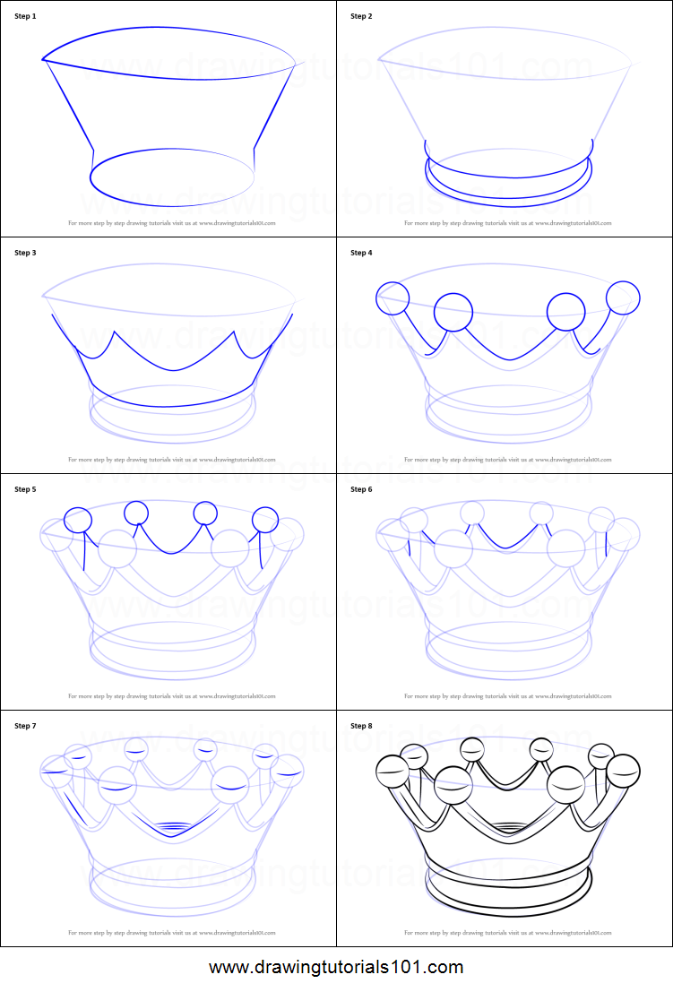 How to draw a crown for kids printable step by step for How to draw things step by step for kids
