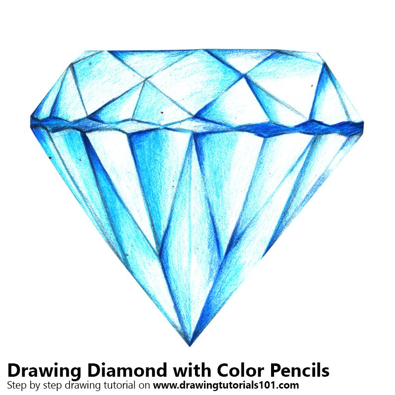 Diamond Colored Pencils - Drawing Diamond with Color ...