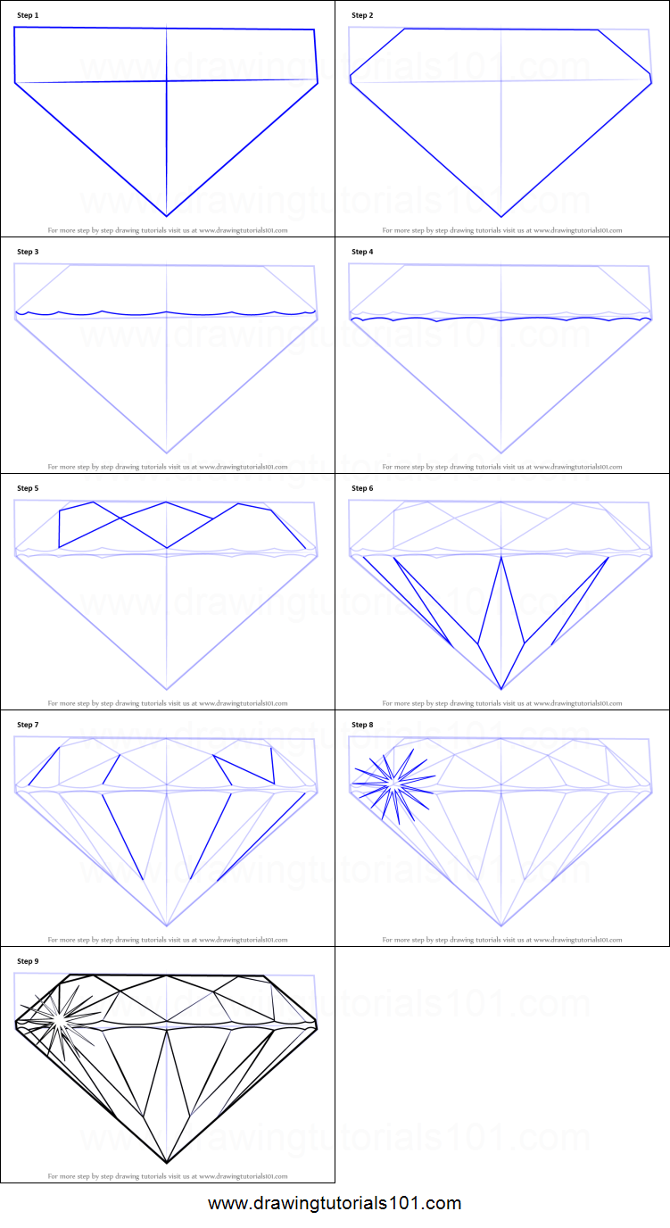 image relating to Diamond Printable called How towards Attract a Diamond printable stage by means of action drawing sheet
