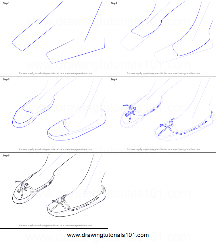 How To Draw Feet With Shoes Printable Step By Drawing Sheet Drawingtutorials101 Com