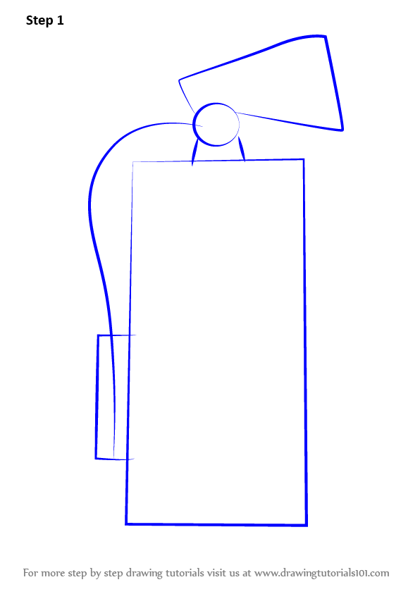 Learn How To Draw Fire Extinguisher Everyday Objects Step By Step