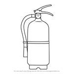 How to Draw Fire Extinguisher