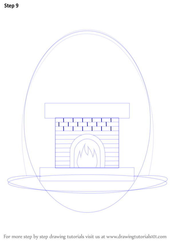 Fireplace Design fireplace drawing : Learn How to Draw a Fireplace (Everyday Objects) Step by Step ...