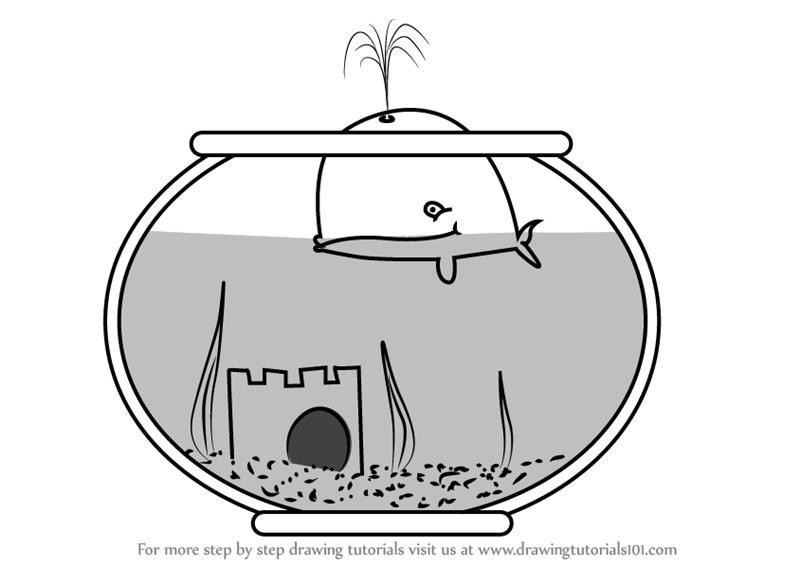 learn how to draw a fish tank everyday objects step by step drawing tutorials