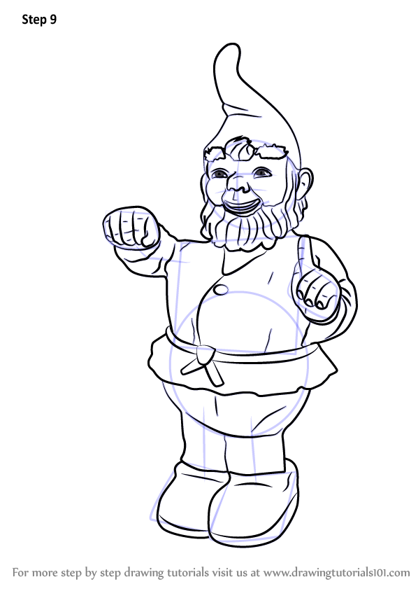 learn how to draw garden gnome  everyday objects  step by