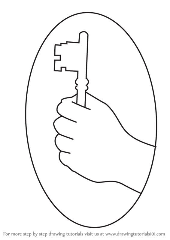 How to draw hand holding a key