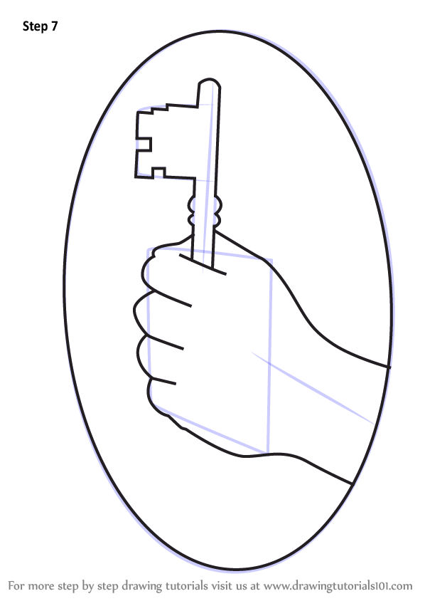 Step By Step How To Draw Hand Holding A Key Drawingtutorials101 Com Real estate concept with house and realtor in flat style. step by step how to draw hand holding a