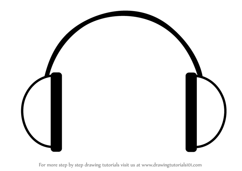 Learn how to draw headphones easy everyday objects step by step drawing tutorials