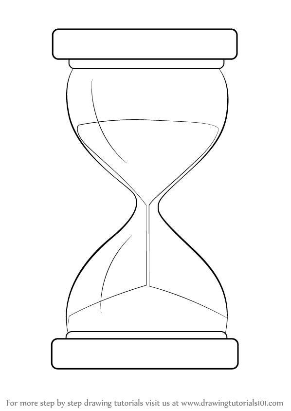 Hourglass drawing  Learn How to Draw an Hourglass (Everyday Objects) Step by Step ...