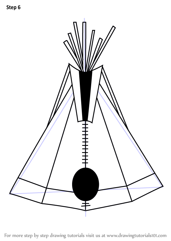 Learn How To Draw An Indian Tipi Everyday Objects Step