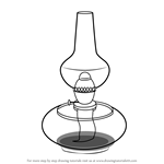 How to Draw Kerosene Lamp