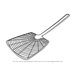 How to Draw a Mosquito Swatter