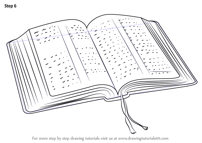 learn how to draw an open book  everyday objects  step by step   drawing tutorials