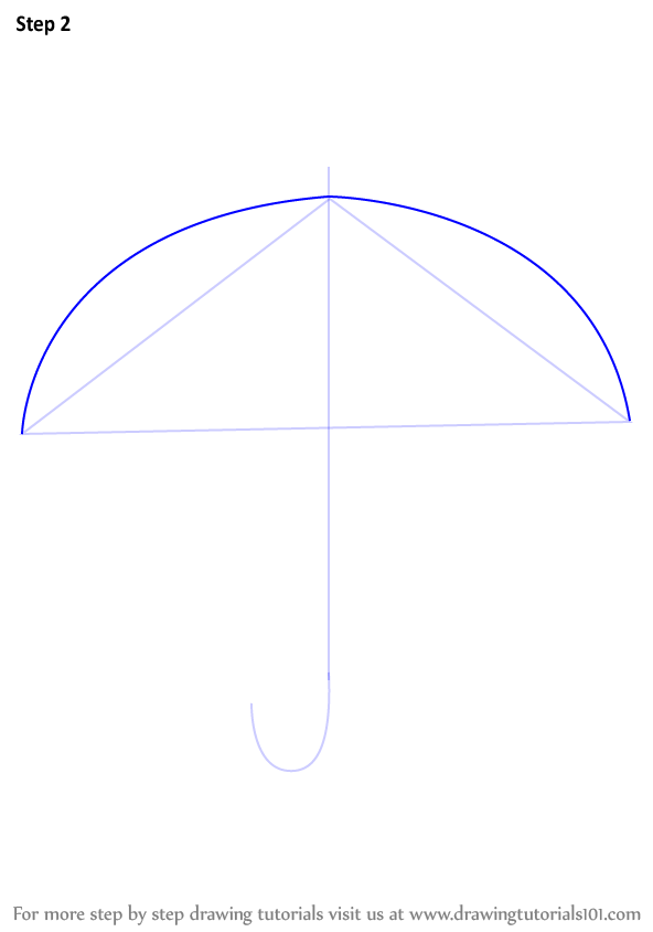 how to draw an umbrella in illustrator