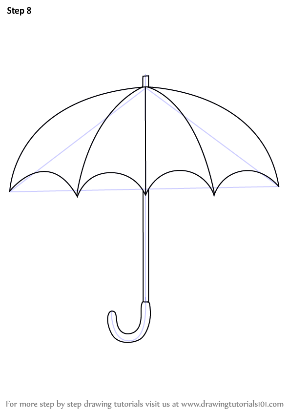 Image result for how to draw umbrella easy