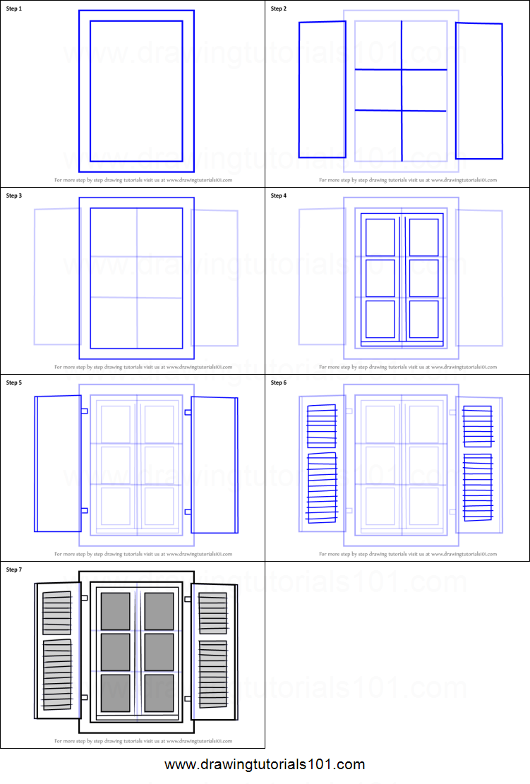 picture relating to Window Printable named How in direction of Attract Open up Window printable stage through move drawing sheet