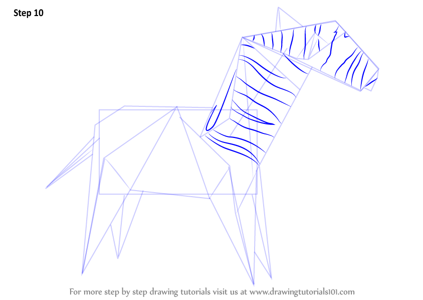 learn how to draw an origami zebra everyday objects step