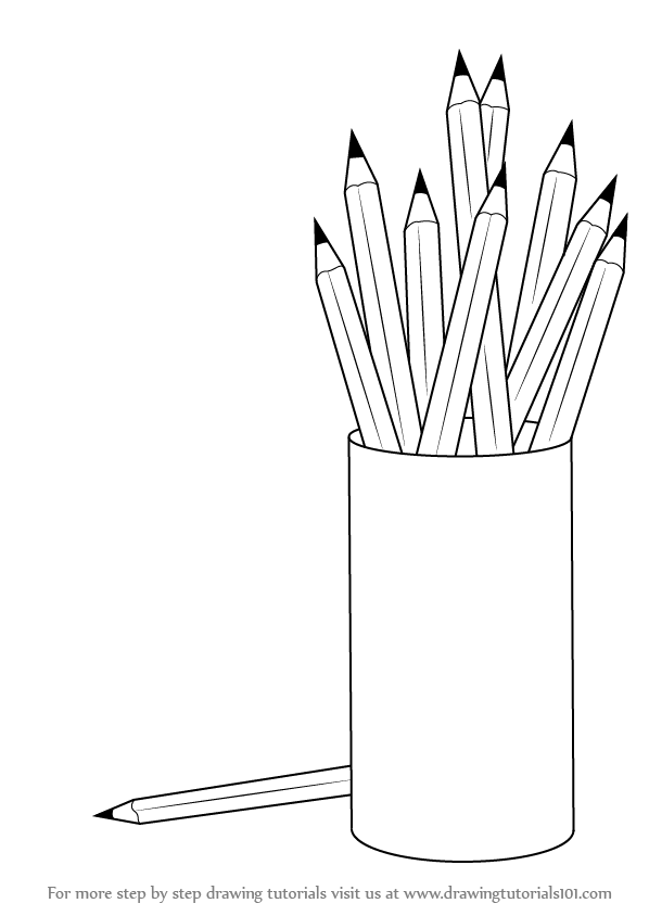 Drawing Lines In Objective C : Learn how to draw a pencil box with pencils everyday