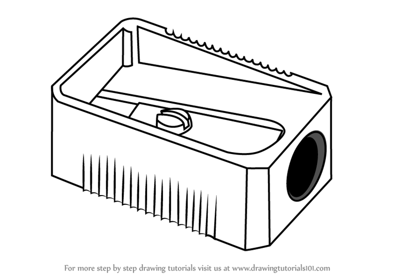 Learn How To Draw Pencil Sharpener Everyday Objects Step By Step