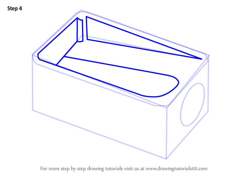 Step by step how to draw pencil sharpener for Pencil sharpener coloring page