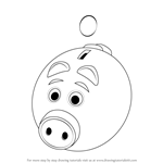 How to Draw a Piggy Bank for Kids
