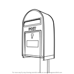 How to Draw Post Box