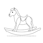 How to Draw Rocking Wooden Horse for Kids