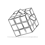 How to Draw Rubik's Cube